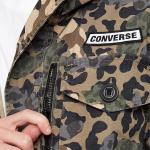 Zimní bunda Converse Printed Cotton Utility Jacket DUSKY GREEN