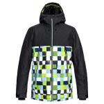 Zimní bunda Quiksilver SIERRA JK LIME GREEN_CHECK ATOMIC