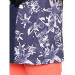 Zimní bunda Roxy JETTY BLOCK JK MID DENIM BLEACHED FLOWERS