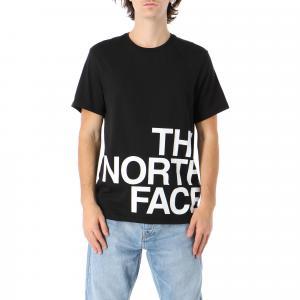 Tričko The North Face SS GRAPHIC FLOW 1 TNFBLACK/TNFWHITE/TNFWHIT