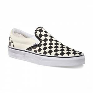 Boty Vans Classic slip-on black and white checker white