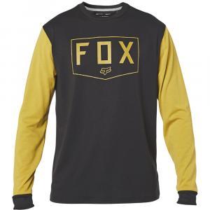 Tričko Fox Shield Ls Tech Tee Black/Yellow