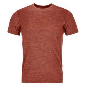 Termo tričko Ortovox 150 Cool Mountain Face TS  Clay Orange Blend
