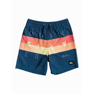 Koupací šortky Quiksilver WORD BLOCK VOLLEY YOUTH 15 MAJOLICA BLUE