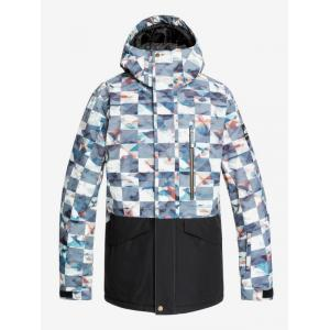 Zimní bunda Quiksilver MISSION PRINTED BLOCK JK BARN RED ONGRID