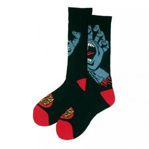 Ponožky Santa Cruz Screaming Hand Sock Black