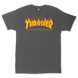 Tričko Thrasher Flame Charcoal