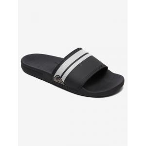 Pantofle Quiksilver RIVI SLIDE BLACK/BLACK/WHITE