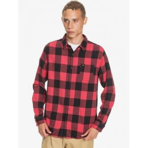 Košile Quiksilver MOTHERFLY FLANNEL AMERICAS RED MOTHERFLY