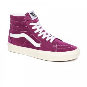 Boty Vans SK8-Hi PIG SUEDE GRAPE JUICE SNOW WHITE