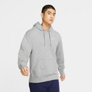 Mikina Nike SB HOODIE dk grey heather/white