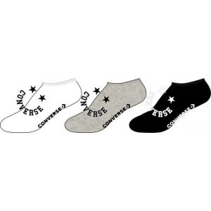 Ponožky Converse 3PP Happy Converse no show White LGH Black