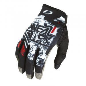 Cyklistické rukavice Oneal Mayhem SCARZ Black/White/Red