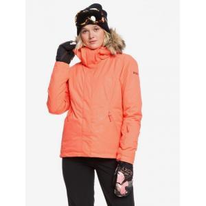 Zimní bunda Roxy JET SKI SOLID LIVING CORAL ARROW FEEL EMBOSS