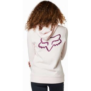 Mikina Fox Lapped Pullover Fleece Light Pink
