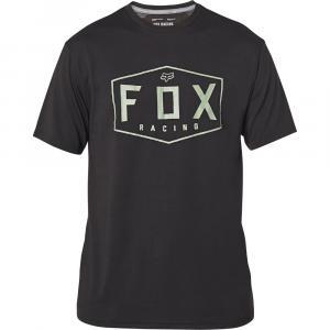 Tričko Fox Crest Ss Tech Tee Black/Green