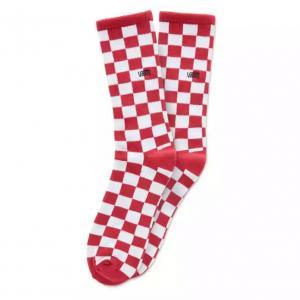 Ponožky Vans CHECKERBOARD CREW II 1PK RED-WHITE CHECK