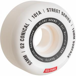 Skateboardová kolečka Globe G2 Conical Street Wheel  White/Essential