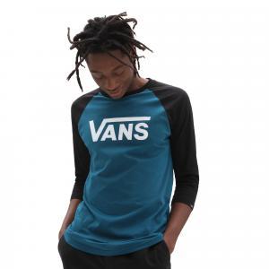 Tričko Vans CLASSIC RAGLAN BLUE CORAL/BLACK