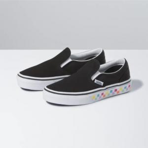 Boty Vans Classic Slip-On CHECKERBOARD RAINBOW/BLACK