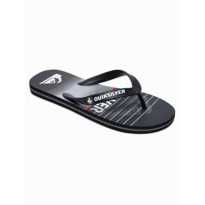 Žabky Quiksilver MOLOKAI HIGHLINE SLAB YOUTH BLACK/BLACK/GREY