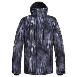 Zimní bunda Quiksilver MISSION PRINTED JK BLACK_STELLAR