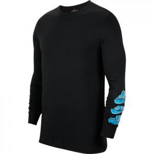 Tričko Nike SB TEE LS TRIPLE STACK black/blue stardust
