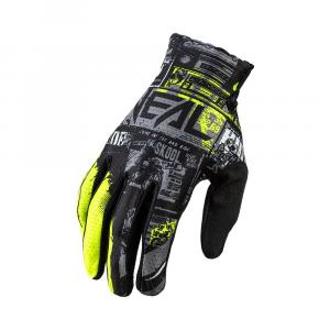Cyklistické rukavice Oneal MATRIX Glove RIDE black/neon yellow
