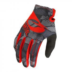 Cyklistické rukavice Oneal MATRIX Glove CAMO V.22 Black/Red