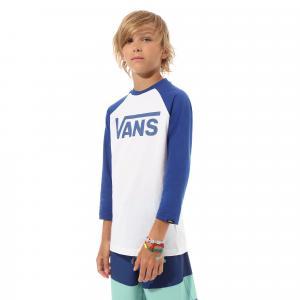Tričko Vans CLASSIC RAGLAN BOYS WHITE/SODALITE BLUE
