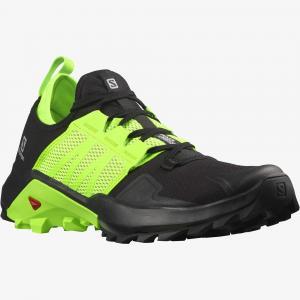 Běžecké boty Salomon MADCROSS Black/Green Gecko/Quiet Shade