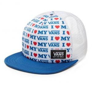 Kšiltovka Vans BEACH BOUND TRUCKER TRUE BLUE/VANS LOVE