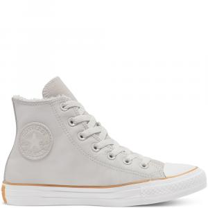 Boty Converse CHUCK TAYLOR ALL STAR FAUX SHEARLING PALE PUTTY/WHITE/HONEY