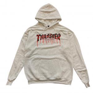 Mikina Thrasher BTS 21 Blood Drip Ash Gray
