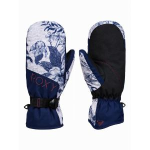 Rukavice Roxy JETTY MITT HEATHER GREY BOTANICAL FLOWERS