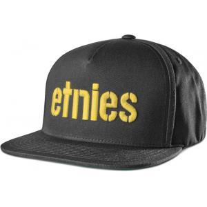 Kšiltovka Etnies Corp Snapback BLACK/YELLOW