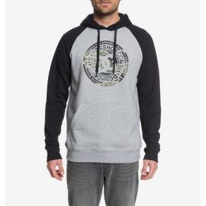 Mikina DC CIRCLE STAR PH RAGLAN GREY HEATHER/BLACK