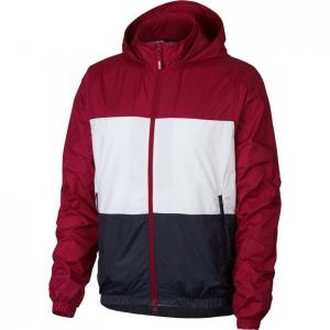 Bunda Nike SB DRY JKT HOODED STRIPE red crush/white/obsidian