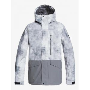 Zimní bunda Quiksilver MISSION PRINTED BLOCK JK IRON GATE X-POSURE