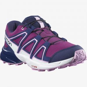 Běžecké boty Salomon SPEEDCROSS J Plum Caspia/Evening Blue/Orchid