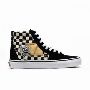 Boty Vans SK8-HI (SATIN PATCHWORK) CHECKER/BLACK