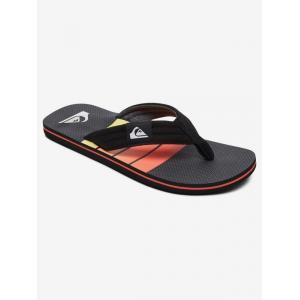 Žabky Quiksilver MOLOKAI LAYBACK BLACK/GREY/YELLOW