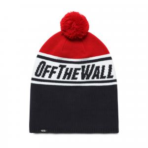Čepice Vans OFF THE WALL POM BEANIE BOYS DRESS BLUES/CHILI PEPPER
