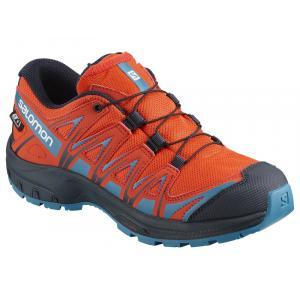 Běžecké boty Salomon XA PRO 3D CSWP J CHERRY TOMATO/Navy Blazer/Fjord Blue