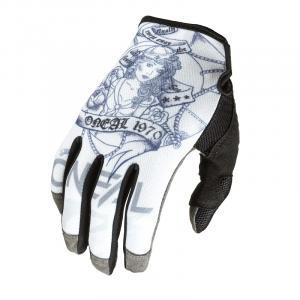 Cyklistické rukavice Oneal Mayhem SAILOR White