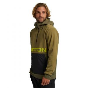 Mikina Burton CROWN Bonded Performance Pullover Fleece Martini Olive/Keef/True Black