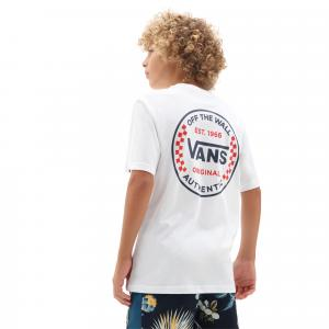 Tričko Vans AUTHENTIC CHECKER SS BOYS White