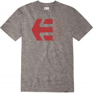 Tričko Etnies Corp Combo Tee GREY/RED