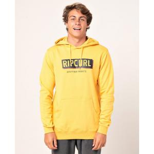 Mikina Rip Curl BOXED HOODED POP OVER  Mustard