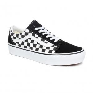 Boty Vans OLD SKOOL PLATFORM CHECKERBOARD BLACK/TRUE WHITE